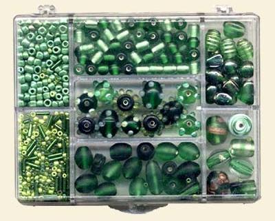 Small Jewellery Bead Mix - Green