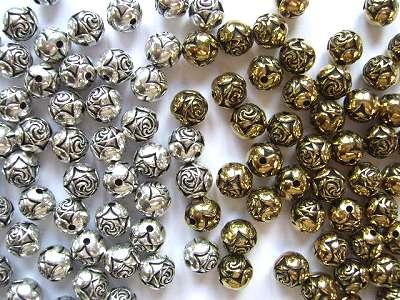 Rose Beads 6mm x15