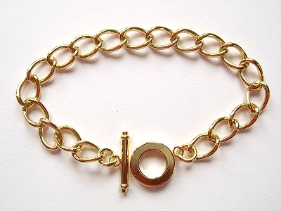 Chain Bracelet Gold Plated x1