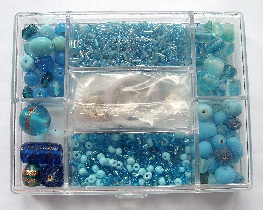 Small Jewellery Making Kit - Aqua