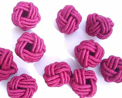 Handwoven Knot Bead Pink x1