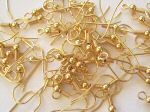 Earring Hooks (Gold Plated) x10 pairs