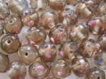 Venetian Glass Round 10mm Bead Crystal x1