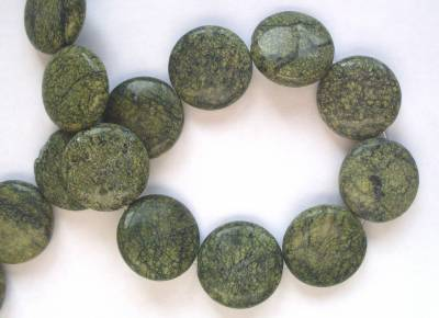 Grey Green Marble Coin x1