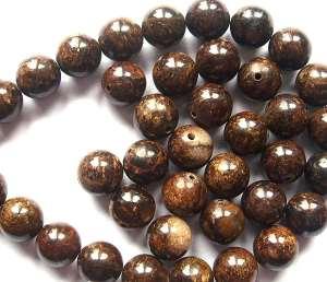 Bronzite 8mm Round Beads x7
