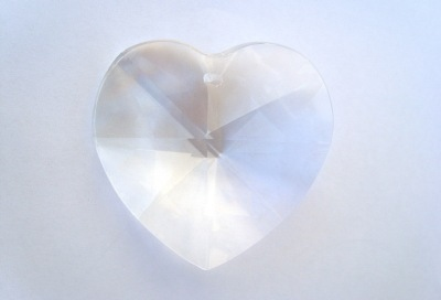 40mm Crystal Heart Clear x1