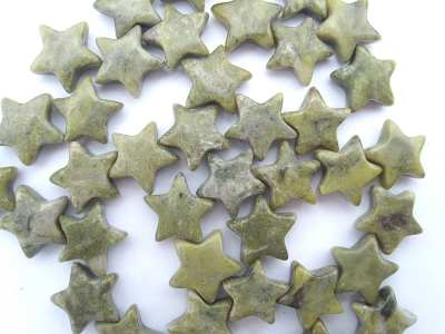 Green Marble 12mm Star x1