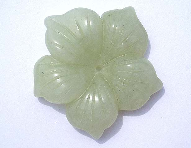 Chinese Jade 32mm Flower x1