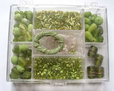 Small Jewellery Making Kit - Green