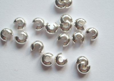 Crimp Cover 5mm Silver Plated x10