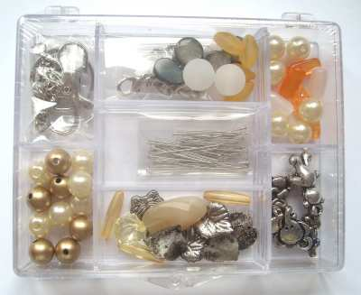 Bag Charm Jewellery Making Kit - Amber