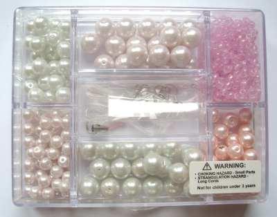Small Jewellery Making Kit - Pink Pearl