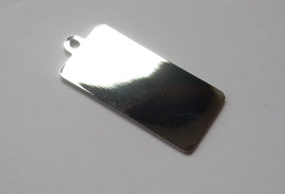Large Rectangular Dog Tag Pendant x1