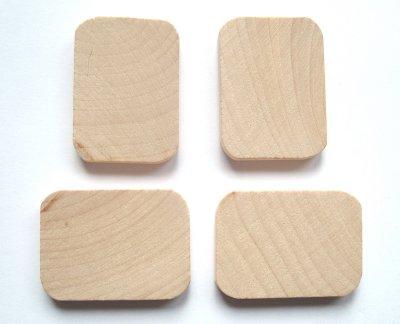 Wood Rectangle Craft Shape x1