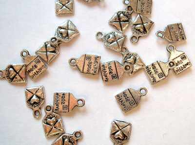 """""""Made with Love"""" Letter Charm"""