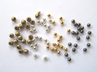 Metal Spacer Beads x50