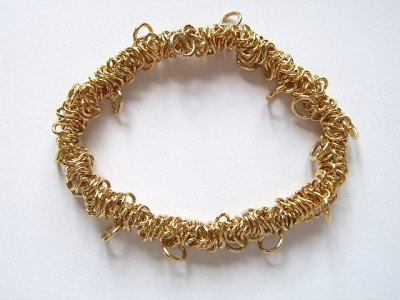 Bungee Charm Bracelet (Elasticated) Gold Plated x1