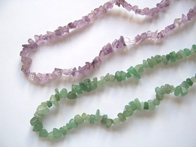 Loose Strung Chip Beads 36""