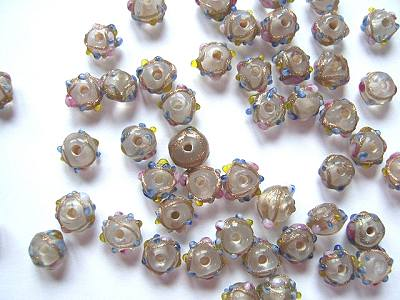 Venetian Glass 6mm Round Beads Crystal x5