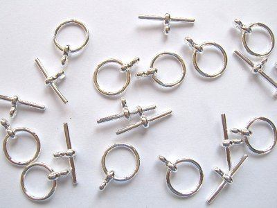 T-Bar Fastener Silver Plated x1