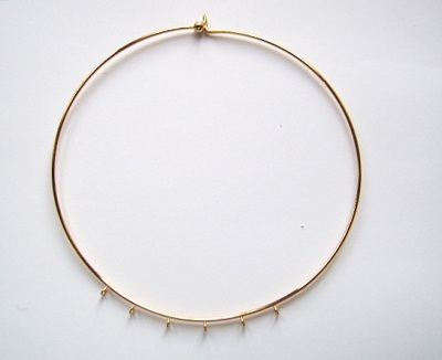 Choker Gold Plated with 6 rings x1