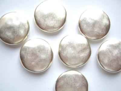Metallised Plastic Silver Disc x1