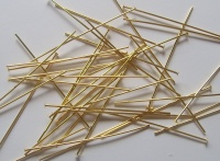 Headpins Gold Plated (thick Hard) 50mm x20