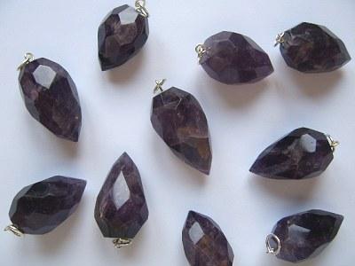 Amethyst Faceted Grape Pendant x1