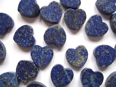 Lapis Lazuli 15mm Flat Heart Bead x1