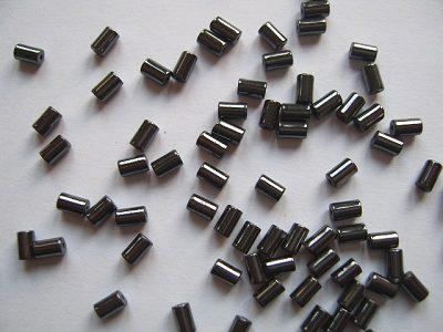 Haematine 5x3mm Tube Beads x10