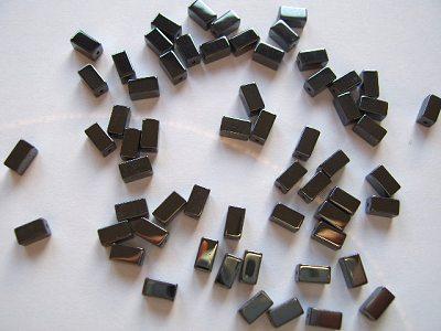 Haematite Superior 3x6mm Cuboid Beads x10