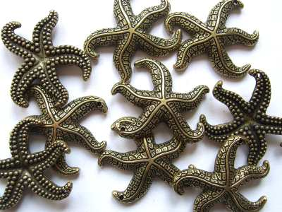 Starfish Large Antique Gold x1