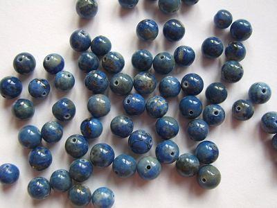Lapis Lazuli Round 6mm Beads x6