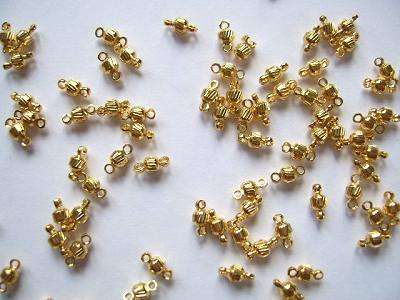 Link Beads Gold Plated 5x3mm x10