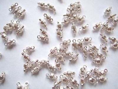 Link Beads Silver Plated 5x3mm x10