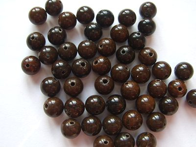 Obsidian Mahogany Round 6mm Beads x6