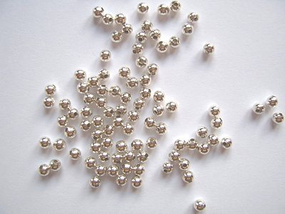 Plain Sterling Silver 3mm Spacer Beads x5
