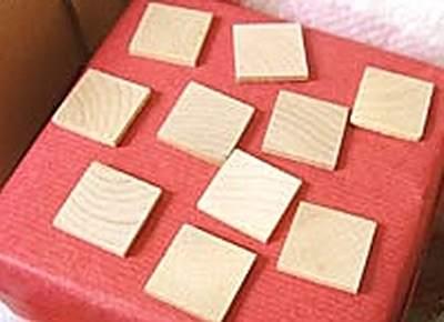 Wood 25mm Square Tile Craft Shape x1