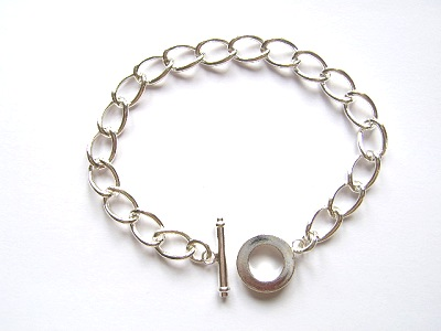Chain Bracelet Silver Plated x1